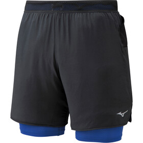 Mizuno ER 7.5 2in1 Shorts Men black/dazzling bule